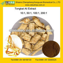 GMP & TUV certified factory supply 100% natural and high quality Tongkat Ali Plant Extract powder
