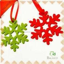Christmas hanging felt ornament/snowflake hanging felt ornament