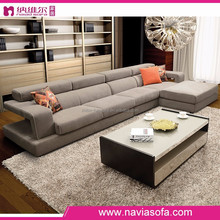 Alibaba wholesale price brown color modern fabric live room soft comfort sofa set