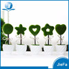 potted mini artificial plant in shape of ball/star/heart for home decorations / garden decorations