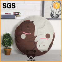 New Design Chinese Dragen Pattern Round Seat Cushion For Chair Outdoor Round Bed Cushion