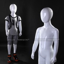 glossy white color stand kids mannequin dolls