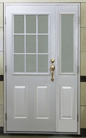 "12"" Half Lite Glass Entry Doors,Double Swing"