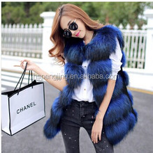 2015 fashion Lady Raccoon Fur vest women's real fur and leather winter overcoat girl's warm outerwear Fur Vest coat
