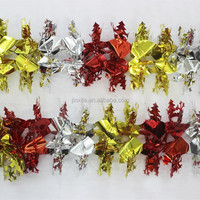 decorative poinsettia flowers light glitter twigs christmas flowers creepers decoration artificial flowers
