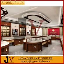 Retail jewelry shop interior design in showcase