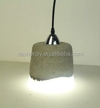 Indoor light /modern ancient light concrete lampshade with E27 plastic lampholder