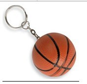 antistress type soft rubber or pvc basketabll keychain