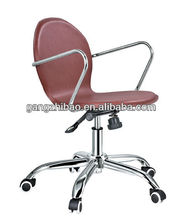 acrylic lucite swivel office chair,metal frame staff chair /easy metal frame chair