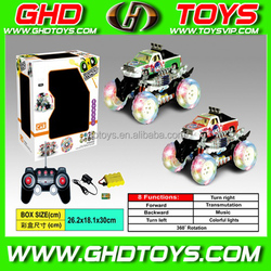 New design stunt 360 8 function transform cartoon car with light and music