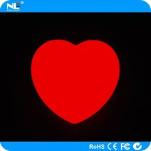 Universal remote control beautiful heart shaped LED light for Christmas and bar decoration