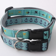 Custom pet collar new arrival top quality nylon+ribbon material