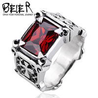 BEIER fashion man claw ring rhinestone 100% 925 sterling silver ring men trendy products jewelry D0630