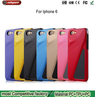 Fashion Trend Sports car Design hard Case for iPhone6 case TPU+PC 2 in 1 case for apple 6