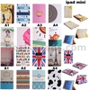 UK Flag and Soldiers Leather Stand Cover Case for iPad Mini 1/2/3