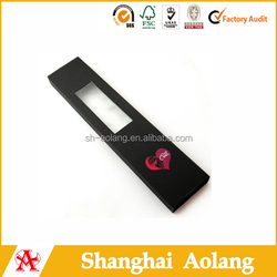 hot sale hair extension box for false hair packaging with window