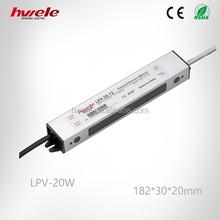 LPV-20W LED driver dc converter 12volt 24volt constant voltage waterproof switching power supply