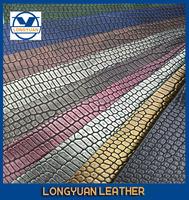 Crocodile Embossed Fabric Animal Skin Leather