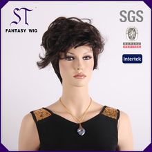 2014 free sample and shipping UH027 short afro wine red cosplay synthetic wigs for party