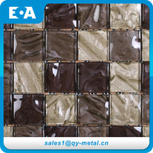 Luxury Home Decor Backgrounds Wall Mosaic Square Stained Glass Tile Backsplash Ideas For Kitchen Wall