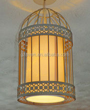 Big bird cage chandelier iron wire pendant lamp large cheap crystal chandeliers