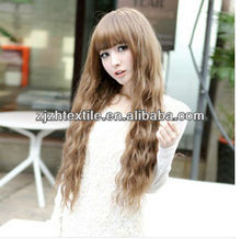 ladies women fashion stylish long hair for party,fake artificial long wave hair