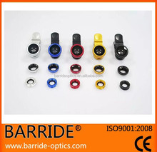 Hot Universal Clip 3 in 1 Fish Eye Wide Angle Macro Fisheye Mobile Phone Lens For iPhone 6 5 5S 4 4S Samsung HTC Nokia