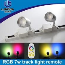 LED Spotlight Track Lighting Newly Developed 7w wifi smarLED Track Light led flashlight 2 Lines jewelry lamp New LED Track Lamp