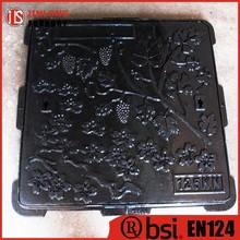 Fundido cuadrada de hierro tapas de registro Jinlong venta