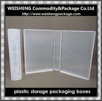 Promotional new fashion for plastic transparent variety of PP Case pp box packaging box