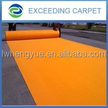 needle punched slip-resistant plain moquette exhibition carpet