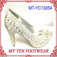 Silver Crystal Bulk Wholesale Shoes High Heels
