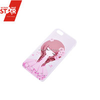 Winningstar stylish pretty flower girl transparent ABS iPhone6 case