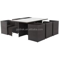 13pc outdoor elegant wicker furniture cube dining set