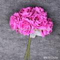 Casamento flores artificiais buquê rosa atacado