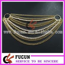 Hot sale gold swimwear accessories wholesale diamond/rhinestone bikini connectors