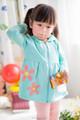 Primavera 2015 de manga larga vestido de los niños vestido del bebé del estilo con cierre de cremallera