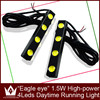 New Parking Light Car LED DRL daytime running Lamp Eagle Eye 4W SMD Reverse Tail light whith colors
