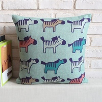Hot Sale Cute Zebra Pattern Custom Cushion Pillow Case Car Seat Cover
