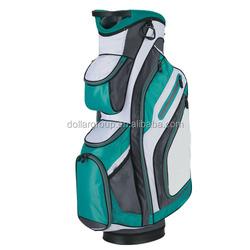 Golf staff bag with cooler bag
