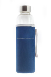 factory price neoprene water bottle coozie with wrist strap, for 20 ounces