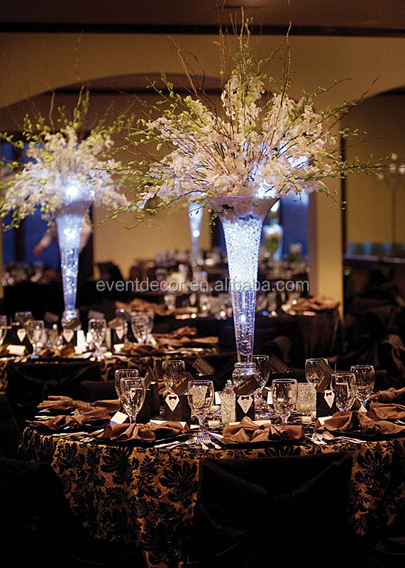 Trumpet Glass Vasevase Wedding Centerpiece And Flower Arrangements