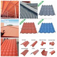 Heat insulation ASA pvc colored plastic roof sheet