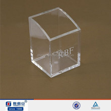 OEM hot sale clear square acrylic name card holder,acrylic name plate holder custom logo