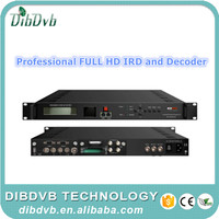 Professional dvb-s to ip fta ird full hd decoder with BISS mode