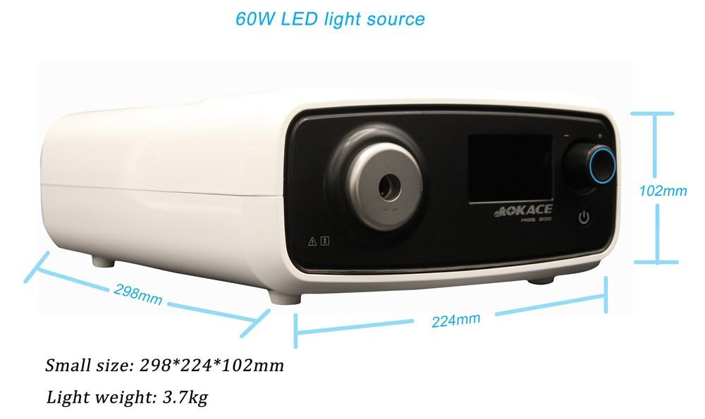 Скидка завод/оптический 60 Вт LED холодный источник света для кольпоскоп