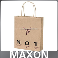 China factory offer New design!!! brown kraft food packaging paper bags with window for shop