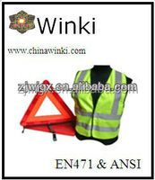 roadway car safety kits emergency warning triangle reflective safety vest