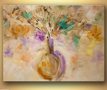 watercolor style flower vase painting designs