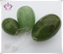 gift boxed Jade Eggs For Kegel Muscles Exercises - Set of 3 Essence of Jade (TM) 100% Natural green Jade Eggs with Strings